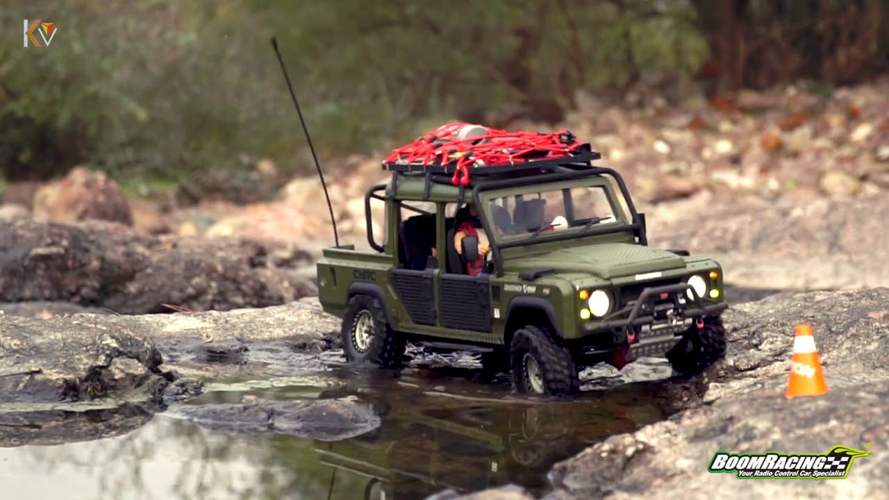 small resolution of boom racing x knight customs defender d110 pickup truck rc 4x4 scale pt 2