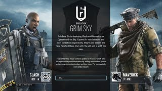 Rainbow Six Siege Grim Sky First Loadup Screen & Frost Elite Huntress Set Giveaway?