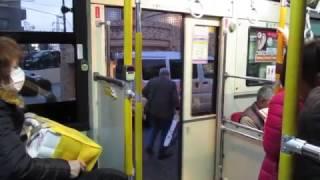 横浜市営バス4-1588(CNGノンステップバス・はまりんバス) 中ドア開閉