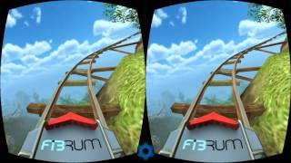 VR Roller Coaster Google Cardboard 3D SBS 1080p Gameplay Virtual Reality video