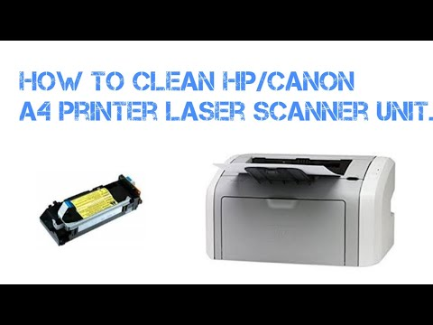 how to disassemble and clean laser unit of hp and canon laser printer HP LJ 1010 or LBP2900