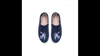Слипоны для девочек Fairytale, синие. Обзор. Школьная обувь.