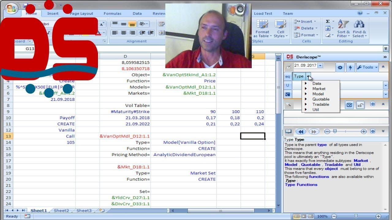Option pricing in Excel with Implied Volatility Surface using QuantLib