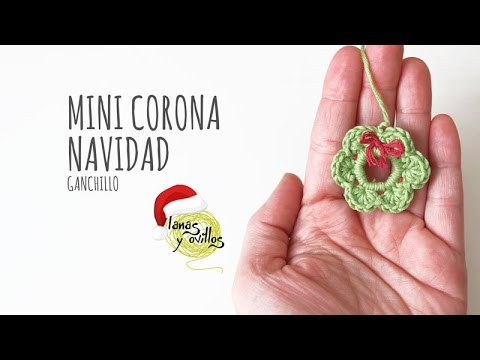 Tutorial Mini Corona Navidad Ganchillo o Crochet - YouTube