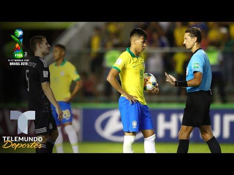 ¿No Era Penal? Polémica Del VAR Perjudica A México Y Brasil En El Sub-17 | Telemundo Deportes