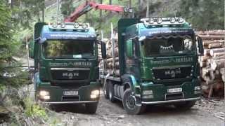Forstunternehmen Hirtler - MAN im Doppelpack