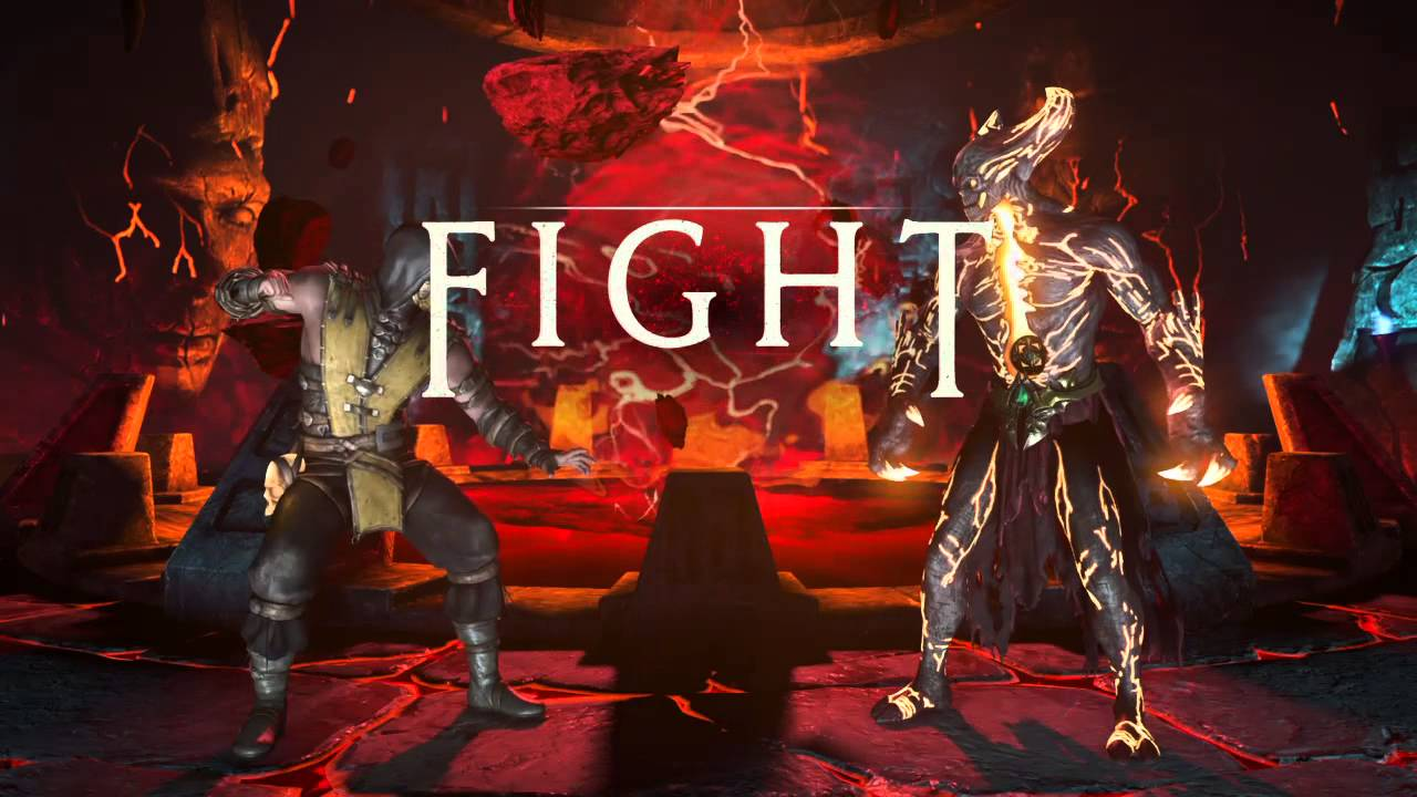 Mortal Kombat X Scorpion vs Corrupted Shinnok Very Hard