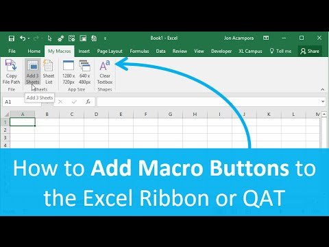 How to Add Macro Buttons to the Excel Ribbon or Quick Access Toolbar (Part 3 of 4)