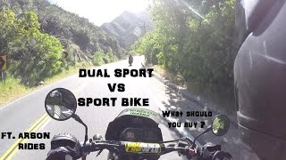 SPORT BIKE VS DUAL SPORT SHOWDOWN !!! Which Is Better ?
