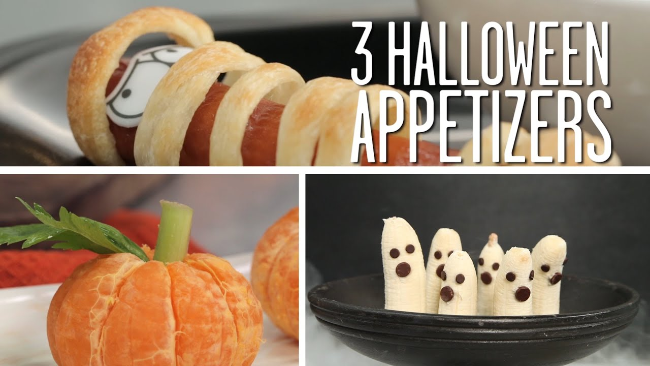 3 easy halloween appetizers | party tips - youtube