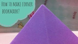 How To Make A Corner Bookmark?