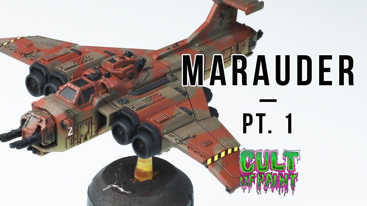 How to Paint a MARAUDER BOMBER for Aeronautica Imperialis - Pt.1: Camo