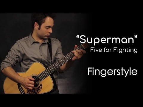 Superman - Five For Fighting (Fingerstyle) By Garret Schmittling