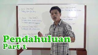 Pendahuluan dasar-dasar Bahasa Inggris : Part of Speech Bagian 1
