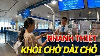 Vắng CHƯA TỪNG THẤY check-in GA QUỐC NỘI sân bay TÂN SƠN NHẤT trong vài nốt nhạc I Du lịch NHA TRANG
