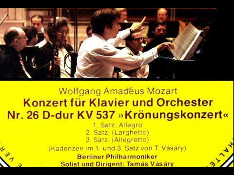 Mozart / Tamas Vasary, 1978: Piano Concerto No. 26 in D major K. 537