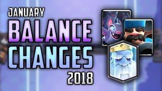 CLASH ROYALE BALANCE CHANGES 01/24 REVIEW