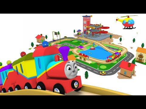 Choo Choo Train - Toy Factory Trains - Videos for Kids - Police Cartoon - Toy Train Video – Trains