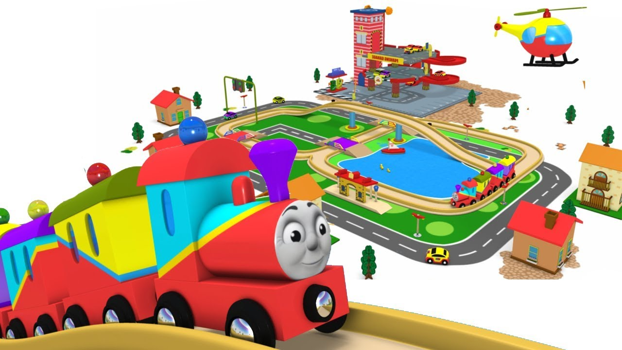 Choo Choo Train - Toy Factory Trains - Videos for Kids - Police Cartoon - Toy Train Video – Trains