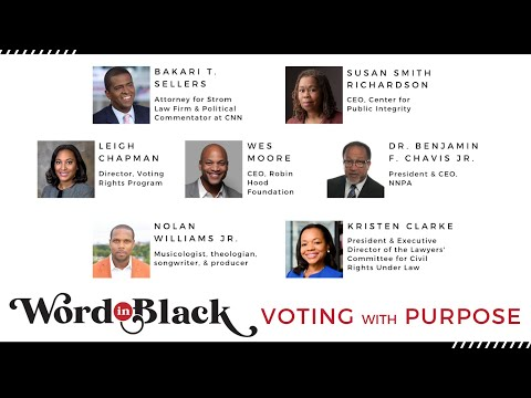 Voting with Purpose;  a Word in Black Live Event