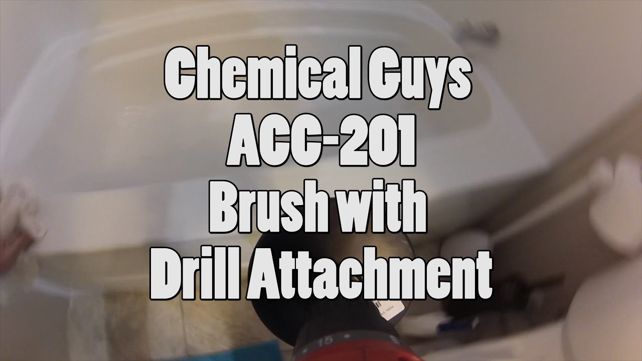 Chemical Guys ACC-201 Medium Duty Carpet Brush with Drill Attachment, Yellow. Video Review. Bing Err