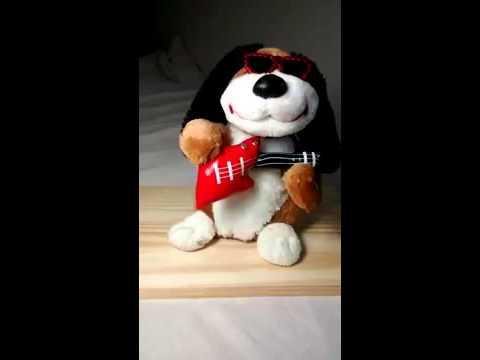 Dan Dee Musical Moving Stuffed Plush Dog with Guitar singing