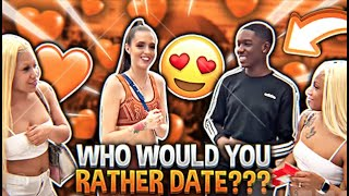 WHO WOULD YOU RATHER DATE??? ft. Hollywood Dollz | Woah Vicky