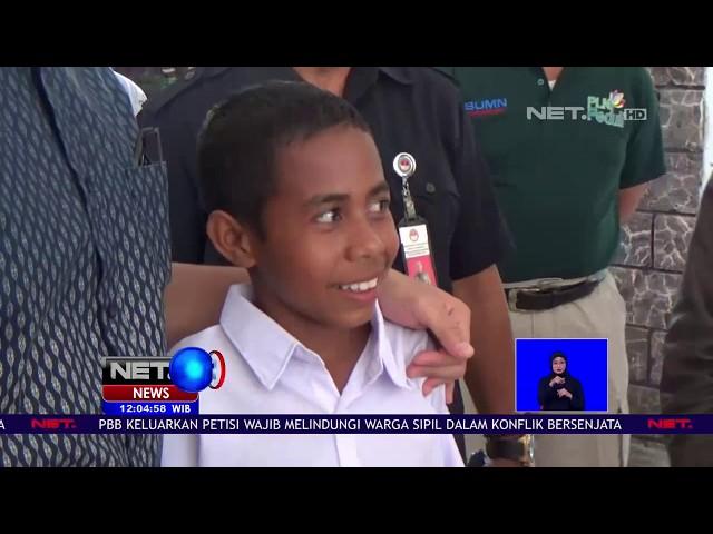 Usai Viral,Bocah Panjat Tiang Bendera Langsung Diundang Jokowi-NET12