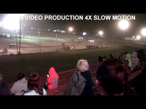 Marion Center Speedway 8/12/17 Super Late Model Feature CRASH