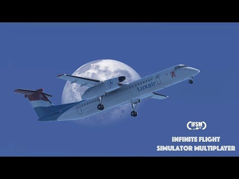 Infinite Flight Global Luxair Dash 8 Q400 - Luxembourg to Paris Charles de Gaulle