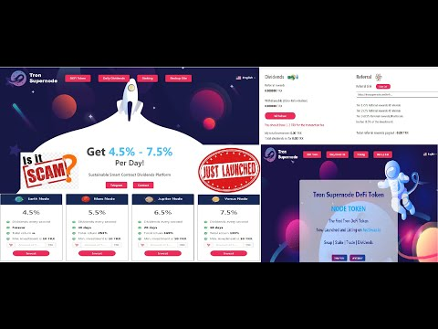 TRON SUPERNODE SCAM OR LEGIT? ROI Plan Earn Daily Tron 24/7 Trusted Project Same Like Bank-Of-Tron.
