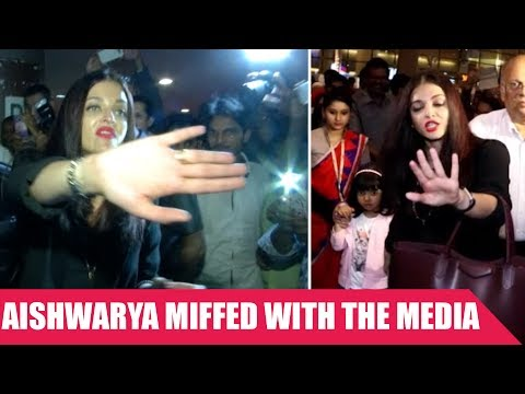 Aishwarya Rai LASHES Out On Media At The Mumbai Airport