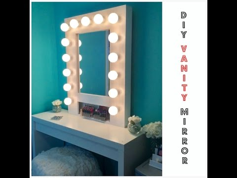 HOW TO: Build your own Hollywood Vanity Mirror W/Lights EASY AND AFFORDABLE