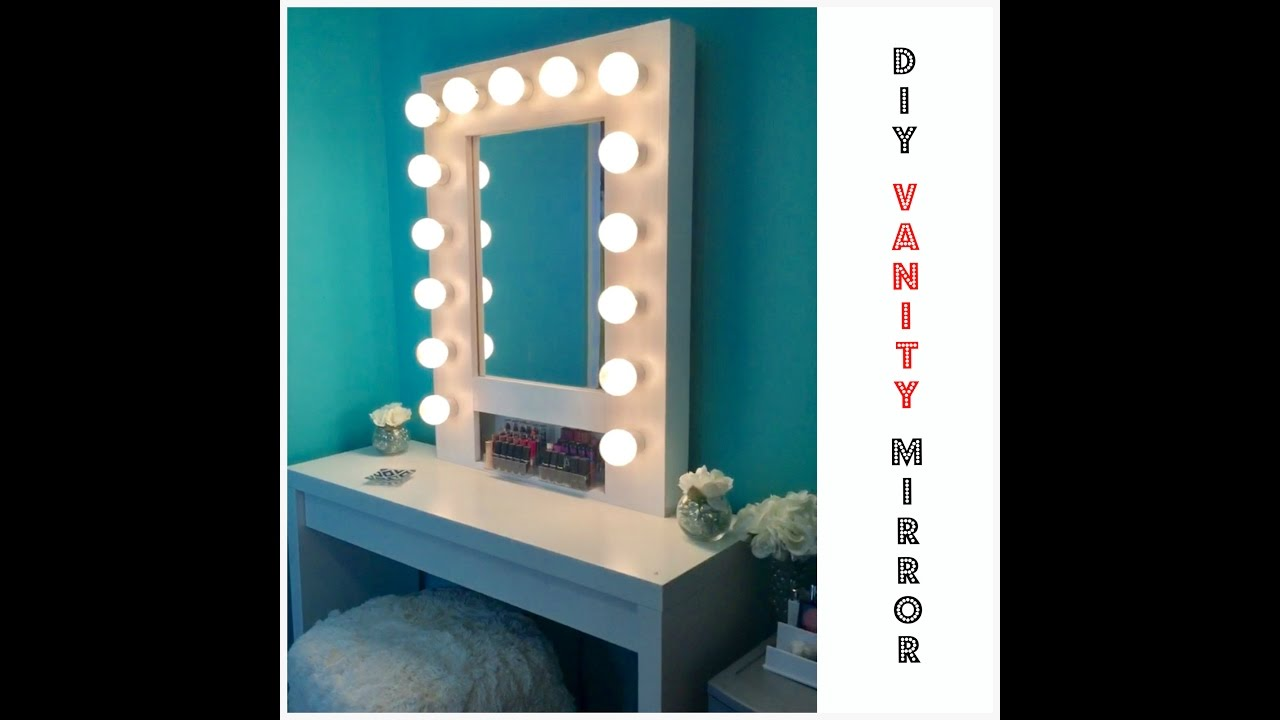 diy lighted vanity mirror. HOW TO  Build your own Hollywood Vanity Mirror W Lights EASY AND AFFORDABLE YouTube