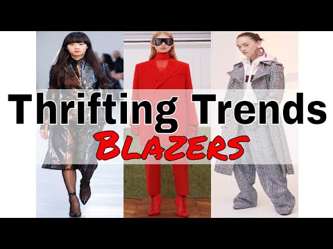 Thrifting Trends Ep. 1 | Checked Blazers | Fall/Winter Trends 2017