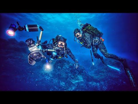 Tauchgang auf 26m Tiefe: Rochen + Unterwasserhöhle gefunden