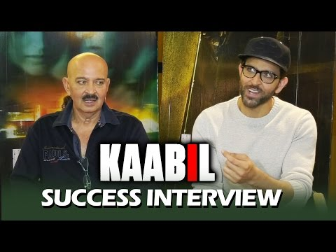 KAABIL SUCCESS INTERVIEW - FULL HD Video - Hrithik Roshan, Rakesh Roshan