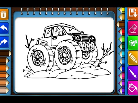 monster truck coloring pages for kids - monster truck