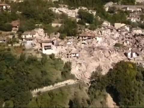 Raw: Drone Footage Shows Italy Quake Damage