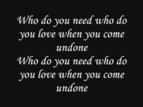 Come Undone - YouTube