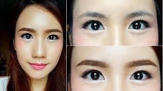 วิธีเขียนคิ้วสไตล์สาวเกาหลี Korean Style Eyebrows Tutorial By MayyR