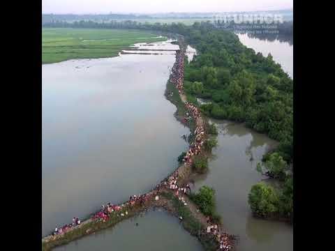 Les images impressionnantes de ce drone montrent l'étendue de l'exode des Rohingyas