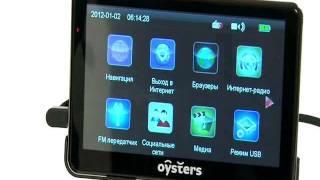 видео GPS-навигатор Oysters Chrom 6000 3G
