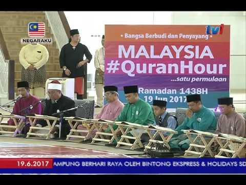 QURAN HOUR – LEBIH 5 RIBU UMAT ISLAM MENYERTAI PROGRAM SATU JAM BERSAMA AL-QURAN [19 JUN 2017]