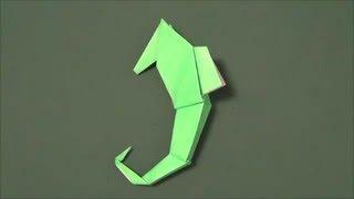 """「タツノオトシゴ」折り紙""""Sea horse""""origami"""