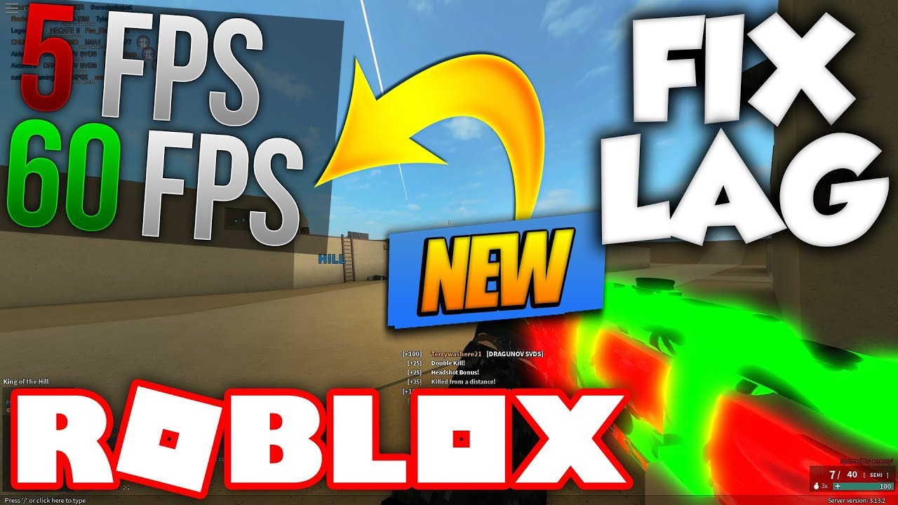 GET BETTER FPS ON ROBLOX! (Fix Lag) 2018/2019