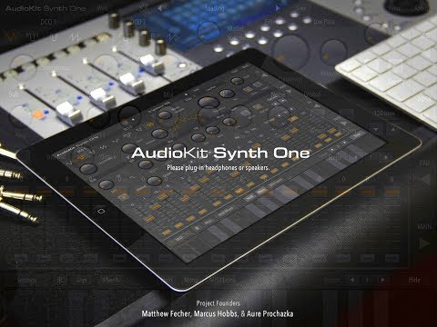 SYNTH ONE By AudioKit  - 100% FREE Mega Synth - OUT NOW - IPad Demo