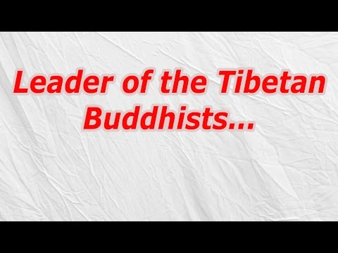 Leader of the Tibetan Buddhists (CodyCross Crossword Answer)