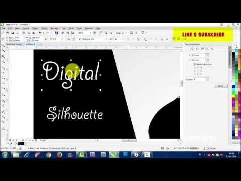 How To Make Silhouette In Corel Draw By Takevektor Youtube