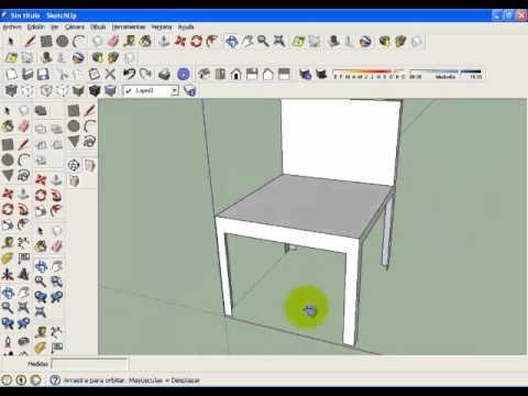 Como hacer una silla y una mesa en google sketchup youtube - Materiales para tapizar una silla ...
